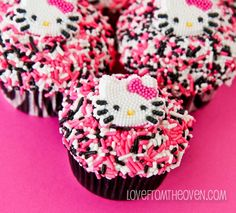 Hello Kitty Cupcakes by Love From The Oven