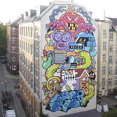 Découverte du jour, GR170, un artiste membre du crew Mixed Media, adepte du rouleau sur des surfaces murales gigantesques ! C'est depuis...