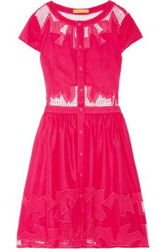 Oh my god, I need this... Alice + Olivia | Papina embroidered cutout cotton dress | NET-A-PORTER.COM