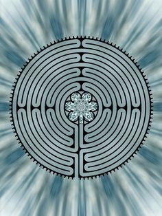 Gorgeous labyrinth bed cover by Catherine Anderson, a Labyrinth Society member.