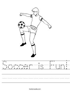 soccer coloring pages for preschoolers - photo#24