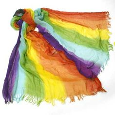 Rainbow Scarf from www.rainbowdepot.com https://www.rainbowdepot.com/Clothing-Accessories_c_173.html #gaypride #rainbowdepot #gay #pride #rainbow #scarf