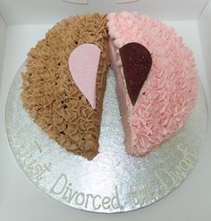 Funny DIVORCE cakes ... People just want to have fun! Just divorced the Dworf!