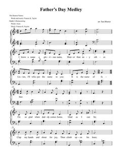 SINGING TIME IDEA: Father's Day Medley (by Tara Blumer -- Voicing: Just Primary Children or Primary Solo Original)