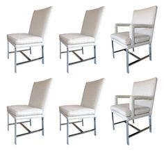 Set of Six Dining Chairs by Directional