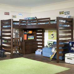 Dual corner lift beds