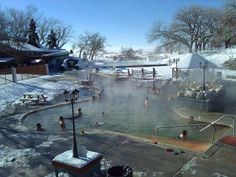 Crystal Hot Spring has three hot tubs, a soaker pool and an Olympic-sized swimming pool. All three are toasty warm.