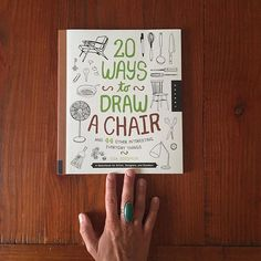 Another beautiful book by my dear friend and fellow art mama and super talented Oakland artist, Lisa Solomon. Perhaps the coolest drawing book I've ever held in my hands. Not kidding. Chairs, fans, musical instruments, kitchen goods, and other beautiful domestic objects scattered throughout. Congratulations @lisasolomon @quartocreates and @twowordsnoe Such a beauty you've created with this one! ❤️