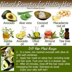 Natural  Remedies to Healthy Hair. For really dry hair, Id personally use Coconut Oil, Jajoba Oil, Aloe Vera and/or Tea Tree.  With thinning hair, Ill add Rosemary Oil and Mint (you could feel the oils immediately working, as your head triangles).