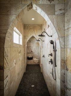 Expansive Walk-Through Shower