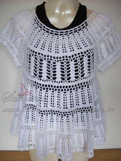 LANÇAMENTO! Esta blusa já apareceu em alguns blogs, tive a encomenda de uma para Salvador/BA. É composta de pontos simples, mas o composê de...