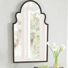 bronze or black window pane mirror