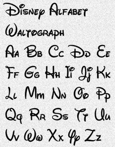 Calligraphy Alphabets and Writing Styles for Beginners Alphabet A, Hand Lettering Alphabet, Brush Lettering, Disney Alphabet, Calligraphy Fonts Alphabet, Font Styles Alphabet, Alphabet Worksheets, Disney Letters, Alphabet Design