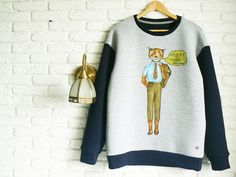 Fantastic Mr Fox Sweater for men Boyfriend Gift by ClothesWithSoul