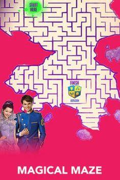 Maze - Free Disney Descendants Printables & Activities | SKGaleana