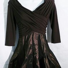"Tadashi collection flare cocktail party prom dress adashi collection flare cocktail party prom dress size 6P new. Waist side to side 13.5"" Bust side to side 16.5"" Tadashi Shoji Dresses Prom"