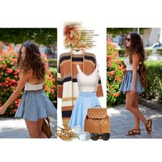 A fashion look from September 2015 featuring Warehouse cardigans, Accessorize sandals and Vera Bradley backpacks. Browse and shop related looks.