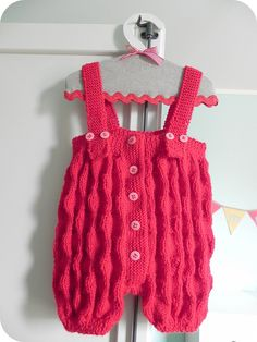 knitted rompers by martina@stashmania, via Flickr