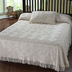 Amazon.com: Martha Washington's Choice Bedspread - Twin - Antique - with String Fringe: Home & Kitchen