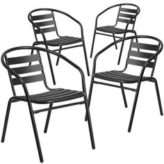 Stackable cafe chair.