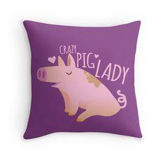 Crazy pig lady by jazzydevil