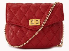 We're tempted to buy this sumptuously textured, never-goes-out-of-style bag in all four colors.  To buy: Forever 21 quilted crossbody, $19.80 at forever21.com