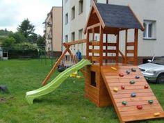 Domek dla dziecka, plac zabaw drewniany