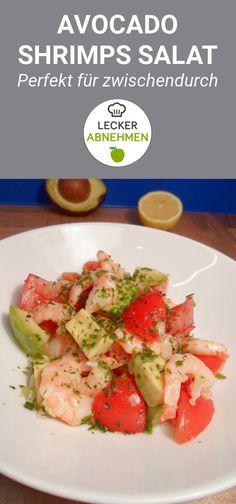 Ein köstlicher Avocado Shrimps Salat mit einem Dressing aus Zitrone, Kräutern und Olivenöl. Der Avocado Shrimps Salat eignet sich perfekt für zwischendurch und kann auch im Büro schnell zubereitet werden. Zusätzlich dazu ist er Low Carb.