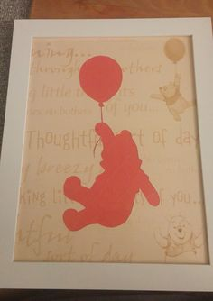Winnie the Pooh Silhouette Picture by BellsAndWhimsy on Etsy Silhouette Pictures, Bear Silhouette, Silhouette Curio, Silhouette Cameo Projects, Sillouette Painting, Diy Painting, Vinyl Crafts, Paper Crafts, Diy Screen Door