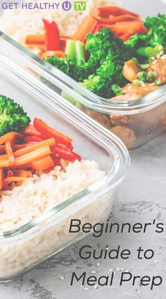 This meal prep guide covers various reasons to meal prep, how long your food will last and several recipes to help get you started! Check out these tips and become a pro in no time. Meal Prep Guide, Meal Prep Plans, Eggplant Pizzas, Sweet Potato Pancakes, Cauliflower Bites, Food Combining, Get Healthy, Family Meals, Meal Planning