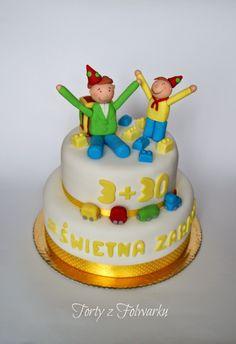 tort dla taty i syna Fondant, Birthday Cake, Desserts, Inspiration, Tailgate Desserts, Biblical Inspiration, Deserts, Birthday Cakes, Postres