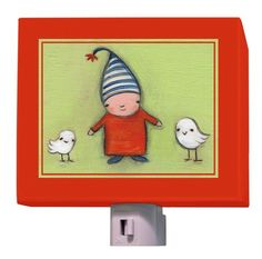 """Penney and Eli and Levi"" kids night light by Creative Thursday by Marisa for Oopsy daisy, Fine Art for Kids $25"