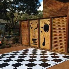 our giant chess board and tank screen Giant Chess, Community Housing, Celebration, Outdoor Structures, Space, Board, Projects, House, Display