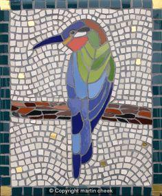 Bee Eater mosaic by Martin Cheek