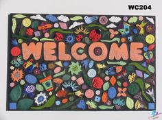 Mosaic tile welcome sign
