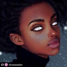 ✨Take care of your inner, spiritual beauty. ♀️That will reflect in your face✨ Dolores del Rio    #Repost @bluesssatan  #art #blackart #artist #artwork #blackgirlmagic #naturalhair #melanin