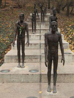 The memorial of victims of communist regime by Olbram Zoubek, Prague, Czechia Sculpture Art, Sculptures, Prague Cz, Architectural Sculpture, Printmaking, Batman, Memories, Superhero, Bronze