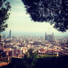 Barcelona from Park Guell #barcelona #parkguell #sagradafamilia