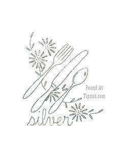 Retro Kitchen Embroidery Set : TipNut.com
