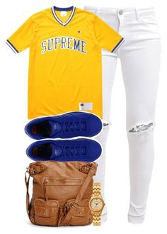 """""""SUPREME."""" by cheerstostyle ❤ liked on Polyvore featuring FiveUnits, Champion, American Apparel, Sterling Essentials, women's clothing, women's fashion, women, female, woman and misses"""