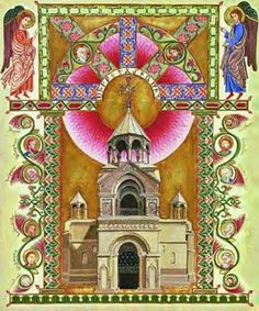 The miniature of Holy Etchmiadzin Cathedral, Armenia