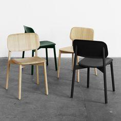 Der Hay - Soft Edge Stuhl in Eiche / schwarz / grün