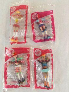 NIP 2007 My Scene Girls 1, 3, 5, 7 McDonalds Happy Meal Toys Pretend Play #McDonalds