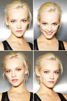 Facial Expression. Who would you rather hire or talk to? Top right or the other three? Aelin