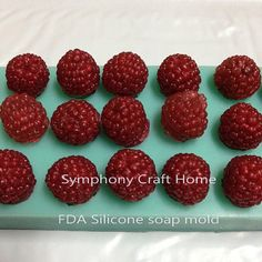 Raspberries silicone mold fruit mold tart by SymphonyCraftHome Tart Molds, Soap Molds, Resin Molds, Silicone Molds, Silicone Rubber, Sugar Mold, Sugar Craft, Fondant Molds, Home Made Soap