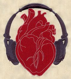 Listen to Your Heart Embroidered Flour by EmbroideryEverywhere, $14.99