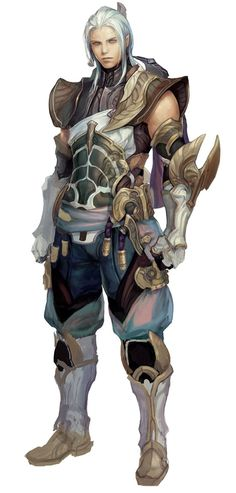 Aion - Elyos Male. warrior of some time, not on the main continent. dragon clan?