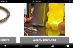 Gummy bear lamp!