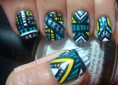 I Really Like Tribal Nails  sincerelystephaniee.blogspot.com