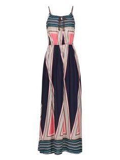 as photo Geo Pattern Tie Front Beach Dress